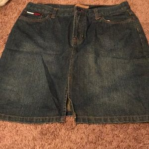 Used Tommy denim skirt size 11.